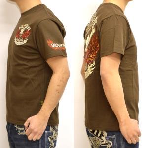 バンソン VANSON NVST-902 半袖Tシャツ 天竺半袖TEE ファイアースカル メンズ|americanbass|07