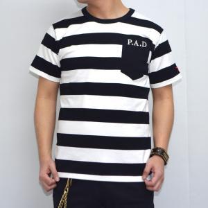 クローズ×ワースト RC-06 半袖Tシャツ ブラック色 P.A.D ボーダー 美藤竜也 CROWS WORST|americanbass