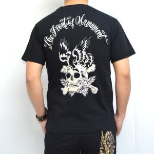 クローズ×ワースト RC-15 半袖Tシャツ ブラック色 SKULL&CROWS 阪東秀人 CROWS WORST|americanbass
