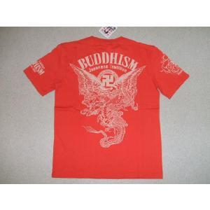 爆烈爛漫娘 爆裂爛漫娘 Tシャツ RMT-211 卍2 和柄 和米カジ エフ商会 レッド色 送料無料|americanbass