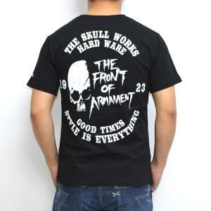 クローズ×ワースト SWT-07 半袖Tシャツ ブラック色 村田十三モデル CROWS WORST|americanbass