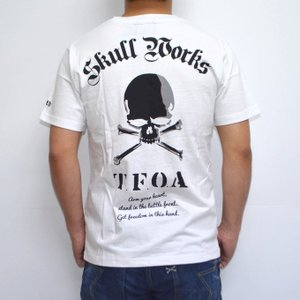 クローズ×ワースト SWT-08 半袖Tシャツ ホワイト色 村田将五モデル CROWS WORST|americanbass