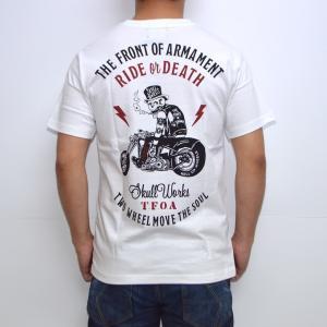 クローズ×ワースト SWT-15 半袖Tシャツ ホワイト色 TFOAロウブロウ CROWS WORST|americanbass