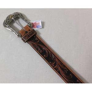 トニーラマ Tony Lama ベルト TLC41514 ウエスタン アメリカン 牛皮革 クラフト ブラウン色|americanbass|02
