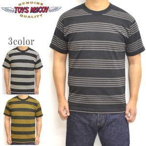 トイズマッコイ TOYS McCOY TMC1926 半袖Tシャツ マルチボーダー TEE メンズ トップス|americanbass