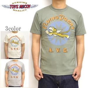トイズマッコイ TOYS McCOY TMC1927 半袖Tシャツ ミリタリーTEE FLYING TIGERS A.V.G. メンズ トップス|americanbass