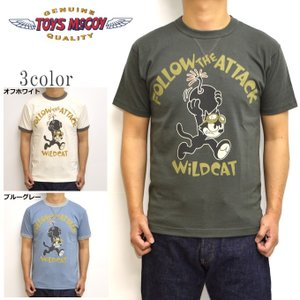 トイズマッコイ TOYS McCOY TMC1939 半袖Tシャツ ミリタリーTEE フィリックスザキャット WILD CAT メンズ トップス|americanbass