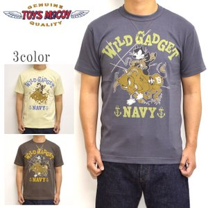 トイズマッコイ TOYS McCOY TMC1940 半袖Tシャツ ミリタリーTEE フィリックスザキャット WILD GADGET メンズ トップス|americanbass