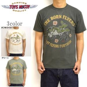 トイズマッコイ TOYS McCOY TMC1941 半袖Tシャツ ミリタリーTEE THE BORN FLYERS メンズ トップス|americanbass