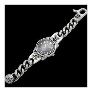 ヴォルテージ VOLTAGE 腕時計 VO-021S-02M BREAKER チェーンベルト スカル スワロフスキー|americanbass