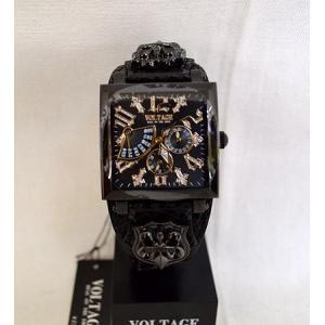 ヴォルテージ VOLTAGE 腕時計 専用化粧箱付 レクイエム ゴシック セイコー スワロフスキー 牛本革 vo-117|americanbass