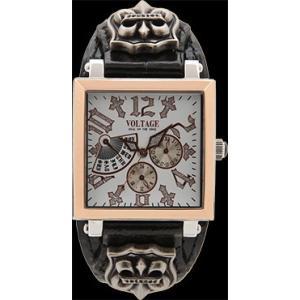 ヴォルテージ VOLTAGE 腕時計 VO-117RG-01/B ホワイト色 REQUIEM2 レクイエム2|americanbass