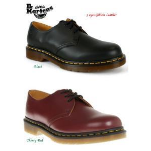 ドクターマーチン 3ホール ブーツ Dr Martens Boots 3 eyes Gibson Leather