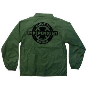 INDEPENDENT / インデペンデント AXIOM W/B ナイロン コーチ ジャケット FOREST フォレスト|americanrushstore