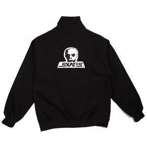 スカルスケーツ キャンバス クラブ ジップ ジャケット ブラック メンズ オールドスケート SKULL SKATES CANVAS CLUB ZIP JACKET BLACK 送料無料|americanrushstore