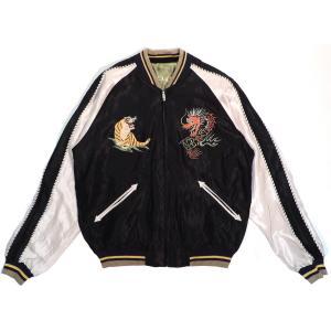 テーラー東洋  スーベニアジャケット アセテート リバーシブル ブラック ブルー ブラック TAILOR TOYO EAGLE×RED DRAGON SOUVENIR JACKET GREEN BLACK americanrushstore