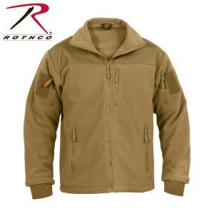 ロスコ タクティカル フリース ジャケット メンズ レディース コヨーテ ブラウン ROTHCO SPEC OPS TACTICAL FLEECE JACKET COYOTE BROWN 送料無料|americanrushstore