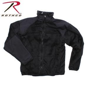 ロスコ フリース ジャケット メンズ レディース ジェネレーション III レベル 3 フリース ブラック ROTHCO GEN III ECWCS FLEECE JACKET BLACK|americanrushstore
