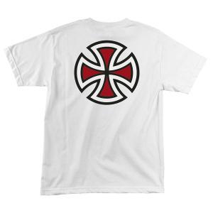 インディペンデント バークロス 半袖 Tシャツ ホワイト メンズ スケート INDEPENDENT BAR CROSS S/S TEE WHITE|americanrushstore