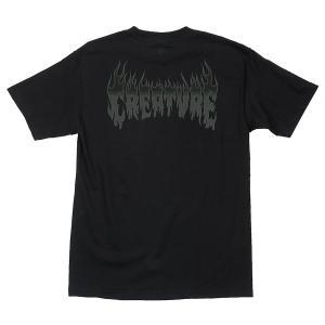 クリーチャー 半袖 Tシャツ ブラック メンズ 黒 スケボー スケートボード CREATURE FIRESTARTER S/S T-SHIRT BLACK americanrushstore