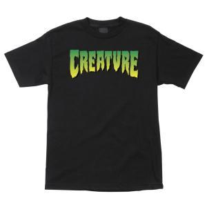クリーチャー メンズ ロゴ 半袖 Tシャツ ブラック 黒 スケボー スケートボード CREATURE LOGO REGULAR S/S T-SHIRT BLACK americanrushstore