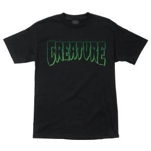 クリーチャー メンズ ロゴ アウトライン 半袖 Tシャツ ブラック 黒 スケボー スケートボード CREATURE LOGO OUTLINE REGULAR S/S T-SHIRT BLACK americanrushstore