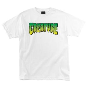 クリーチャー メンズ ロゴ 半袖 Tシャツ ホワイト 白 スケボー スケートボード CREATURE LOGO REGULAR S/S T-SHIRT WHITE americanrushstore