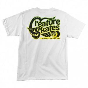 CREATURE / クリーチャー FREESTYLER 半袖Tシャツ WHITE ホワイト americanrushstore