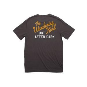 BRIXTON / ブリクストン WANDERER 半袖 Tシャツ PREMIUM FIT WASHED BLACK|americanrushstore