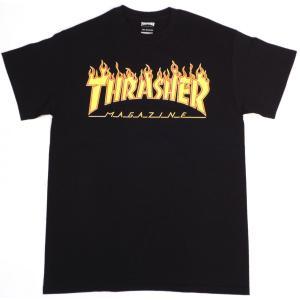 スラッシャー マガジン フレイムロゴ 半袖 Tシャツ ブラック THRASHER MAGAZINE FRAME LOGO S/S T-SHIRTS BLACK TH91130|americanrushstore
