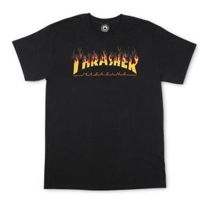 スラッシャー メンズ レディース スケートボード マガジン マグロゴ バーベキュー 半袖 Tシャツ ブラック THRASHER SKATEBOARD MAGAZINE BBQ S/S T SHIRT BLACK|americanrushstore