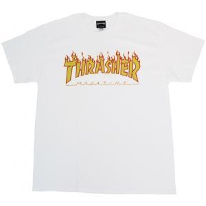 スラッシャー マガジン フレイムロゴ 半袖 Tシャツ ホワイト THRASHER MAGAZINE FRAME LOGO S/S T-SHIRTS WHITE TH91130|americanrushstore