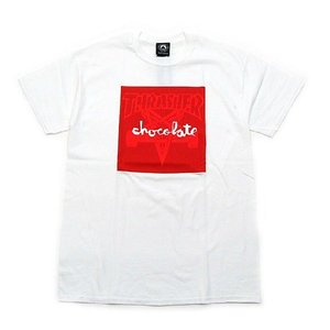 THRASHER × CHOCOLATE / スラッシャー SKATEGOAT Tシャツ WHITE ホワイト|americanrushstore
