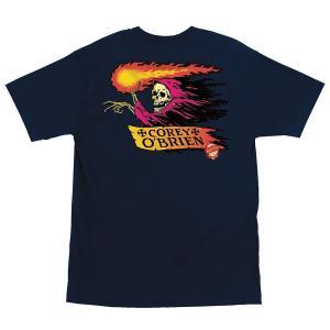 サンタクルーズ オブライエン リーパー 半袖 Tシャツ ネイビー メンズ スケートボード SANTA CRUZ OBRIEN REAPER REGULAR S/S T NAVY americanrushstore