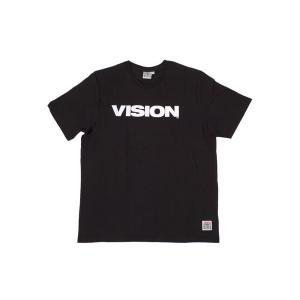 VISION STREET WEAR / ヴィジョン LOGO BASIC Tシャツ BLACK ブラック|americanrushstore