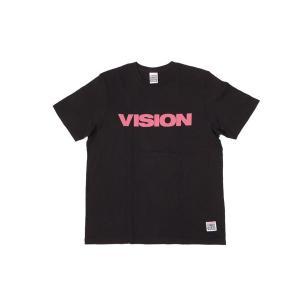 VISION STREET WEAR / ヴィジョン LOGO BASIC Tシャツ BLACK / PINK|americanrushstore
