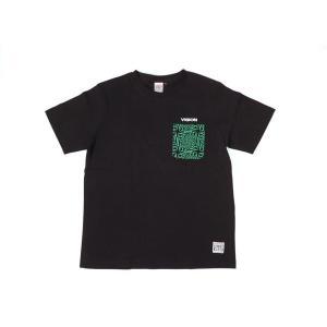 VISION STREET WEAR / ヴィジョン 総柄 ポケット Tシャツ BLACK ブラック|americanrushstore