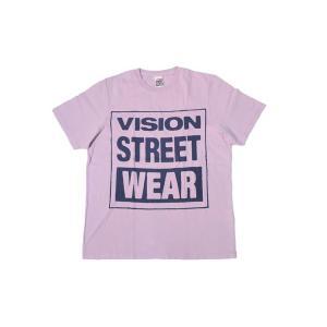 VISION STREET WEAR / ヴィジョン MAG NEON Tシャツ LAVENDER ラベンダー|americanrushstore
