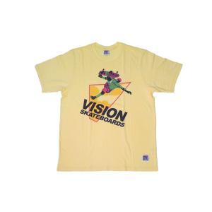 VISION STREET WEAR / ヴィジョン SKATEBOARDS Tシャツ YELLOW イエロー|americanrushstore