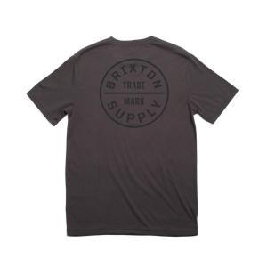 ブリクストン 半袖 Tシャツ ウォッシュド ブラック/ブラック スタンダードフィット BRIXTON OATH S/S STANDARD TEE WASHED BLACK/BLACK|americanrushstore