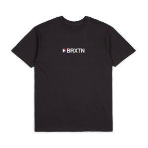 ブリクストン メンズ 半袖 Tシャツ ウォッシュド ブラック スタンダード フィット BRIXTON STOWELL IV S/S T WASHED BLACK STANDARD FIT|americanrushstore