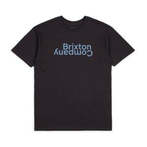 ブリクストン メンズ 半袖 Tシャツ ウォッシュド ブラック スタンダード フィット BRIXTON REVERT II S/S T WASHED BLACK STANDARD FIT|americanrushstore