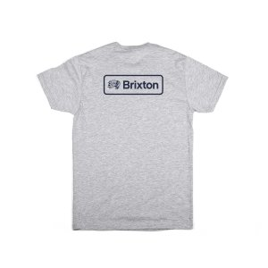 ブリクストン 半袖 Tシャツ ヘザーグレー スタンダードフィット メンズ BRIXTON VALSPAR 2 S/S STANDARD TEE H.GREY|americanrushstore