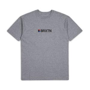 ブリクストン メンズ 半袖 Tシャツ ヘザーグレー スタンダード フィット BRIXTON STOWELL IV S/S T HEATHER GREY STANDARD FIT|americanrushstore