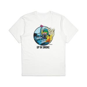 ブリクストン 半袖 Tシャツ ホワイト BRIXTON STREET FIENDS FARTCO SMOKER S/S STANDARD TEE WHITE|americanrushstore