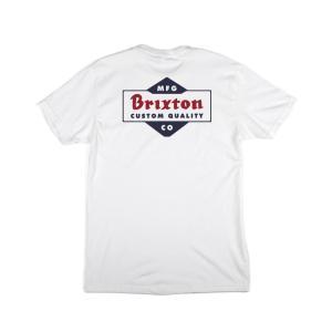 ブリクストン 半袖 Tシャツ ホワイト/ネイビー スタンダードフィット BRIXTON CROWICH S/S STANDARD TEE WHITE/NAVY americanrushstore