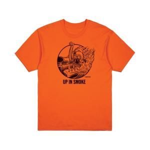 ブリクストン 半袖 Tシャツ オレンジ BRIXTON STREET FIENDS FARTCO SMOKER S/S STANDARD TEE ORANGE|americanrushstore
