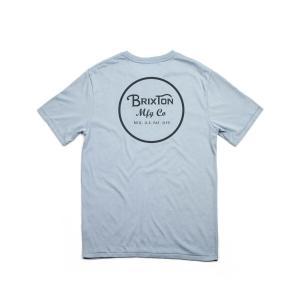 BRIXTON / ブリクストン WHEELER S/S PREMIUM TEE  半袖 Tシャツ PREMIUM FIT プレミアムフィット DENIM デニム|americanrushstore