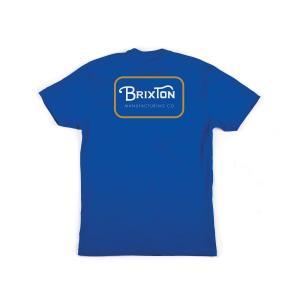ブリクストン 半袖 Tシャツ ロイヤル/ゴールド スタンダードフィット メンズ BRIXTON GRADE S/S STANDARD TEE ROYAL/GOLD|americanrushstore