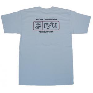 ブリクストン インディペンデント メンズ 半袖 Tシャツ キャロライナ ブルー BRIXTON INDEPENDENT F/U TURNPIKE S/S T CAROLINA BLUE STANDARD FIT|americanrushstore